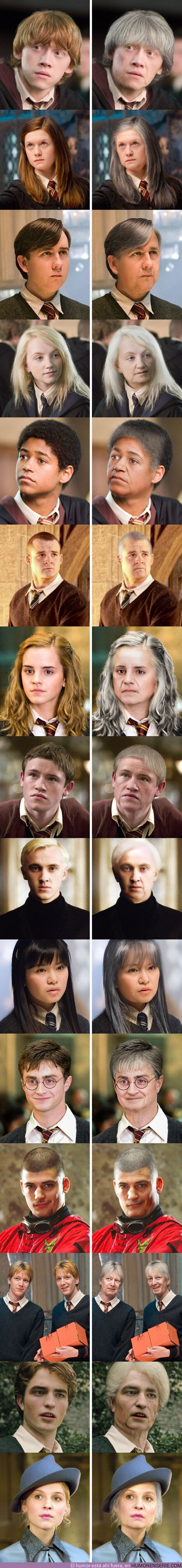 """70223 - GALERÍA: Así lucirían 15 actores de la saga de """"Harry Potter"""" si fueran viejitos"""