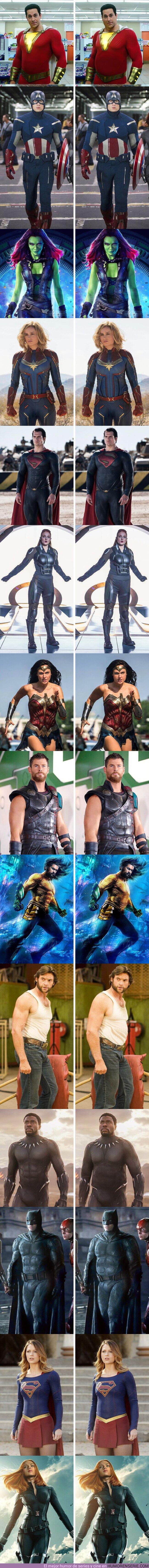 70456 - GALERÍA: Así se verían 14 superhéroes del cine si tuvieran cuerpos menos estilizados