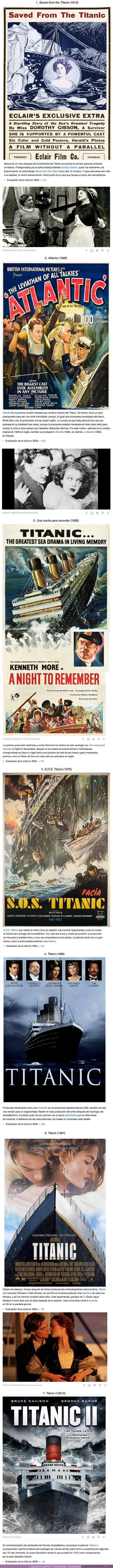 70621 - GALERÍA: Más allá de Jack y Rose, estas 7 películas cuentan la impresionante historia del hundimiento del Titanic