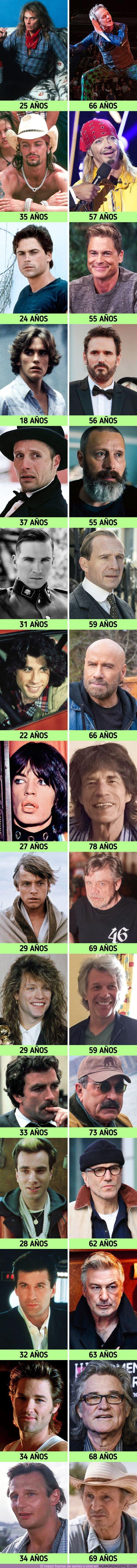 70726 - GALERÍA: Comparamos cuánto han cambiado físicamente 15 famosos de jóvenes y de adultos