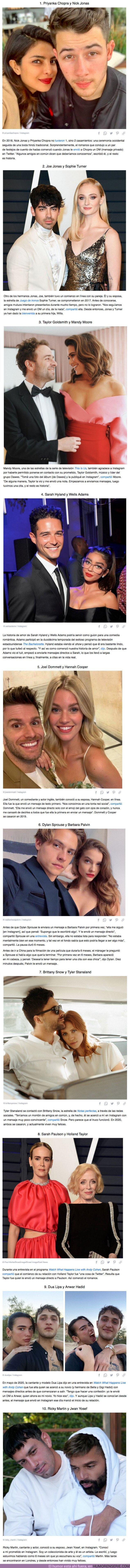 70937 - GALERÍA: 10 Parejas de celebridades que se conocieron ONLINE y se enamoraron
