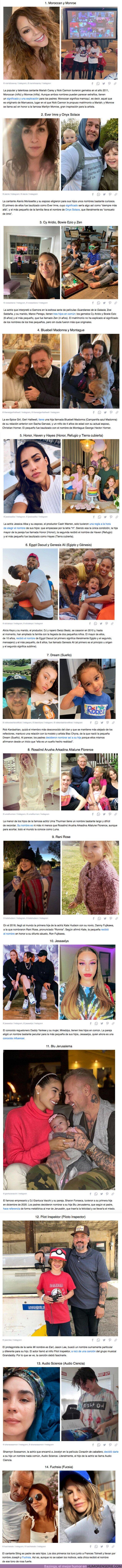 71006 - GALERÍA: 20+ Nombres de hijos de famosos que podrían ganar un premio a la originalidad