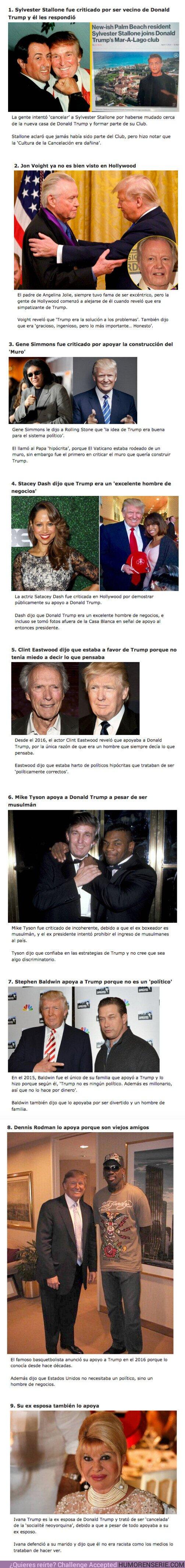 71062 - GALERÍA: 9 Famosos que trataron de ser CANCELADOS por ser amigos de Donald Trump