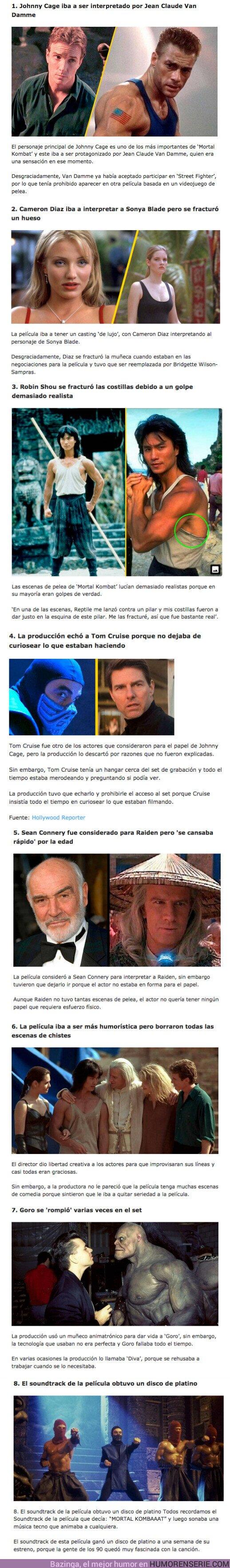 71153 - GALERÍA: 8 Curiosidades que pasaron en el rodaje de la película 'Mortal Kombat' de 1995
