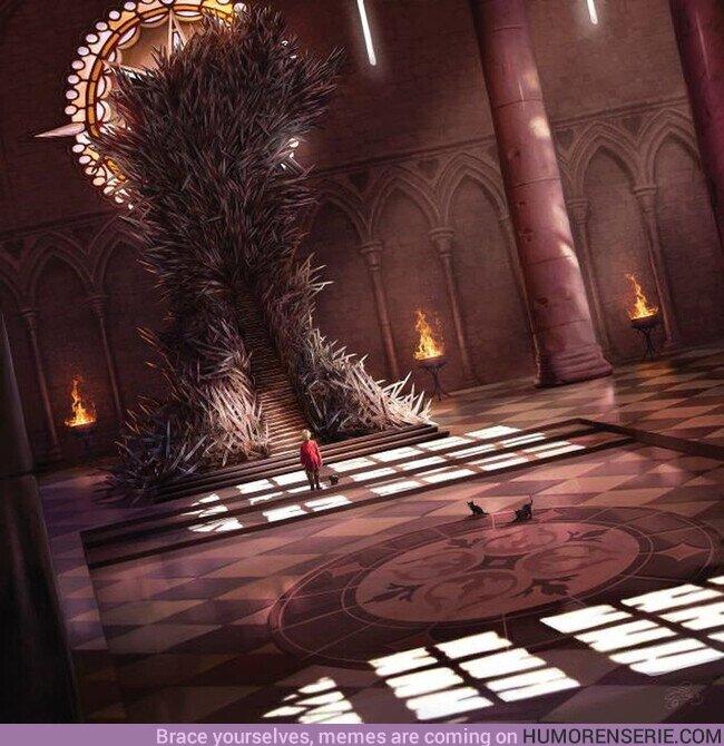 71237 - Así sería el Trono de Hierro, tal y como se describe en los libros