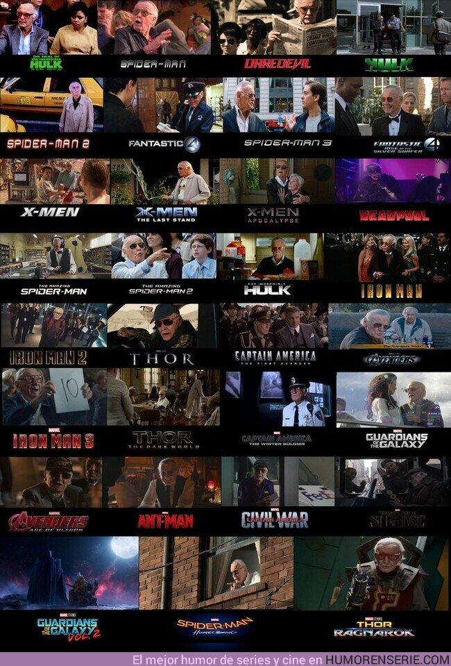 71293 - Algunos Cameos que hizo Stan Lee en las películas de Marvel. Te echamos de menos.