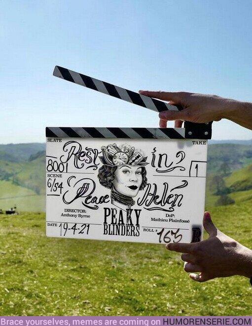 """71339 - """"Por siempre parte de la familia #PeakyBlinders"""" Siguen las grabaciones de la última temporada de la serie y le dedicaron esta imagen a #helenmccrory en sus redes"""