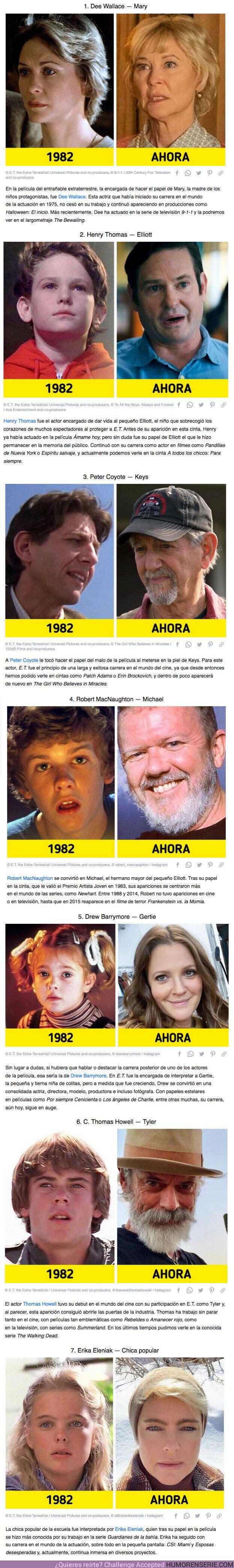 """71498 - GALERÍA: La transformación de los actores de """"E.T., el extraterrestre"""" a 39 años de su estreno (y un bono con datos esclarecedores)"""