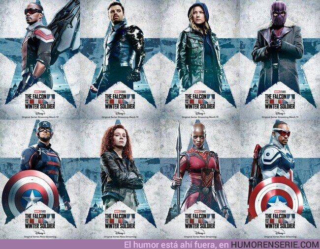 72022 - Todos los pósters de The Falcon and The Winter Soldier.