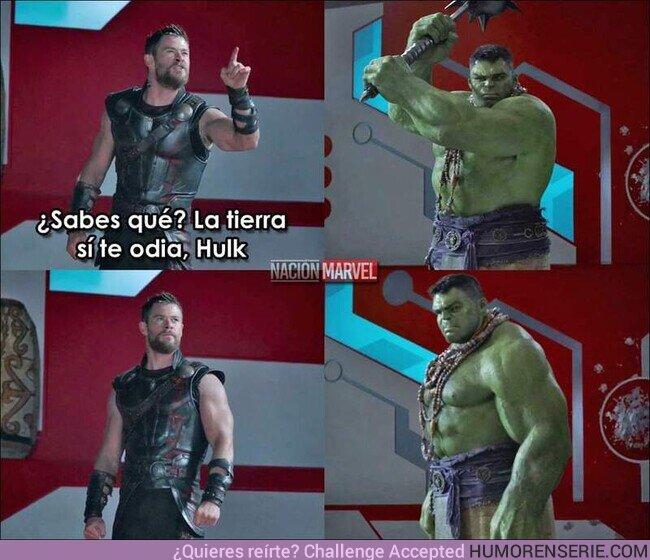 72171 - Podrás superar a tu ex, pero nunca la escena en la que Thor hace sentir mal a Hulk