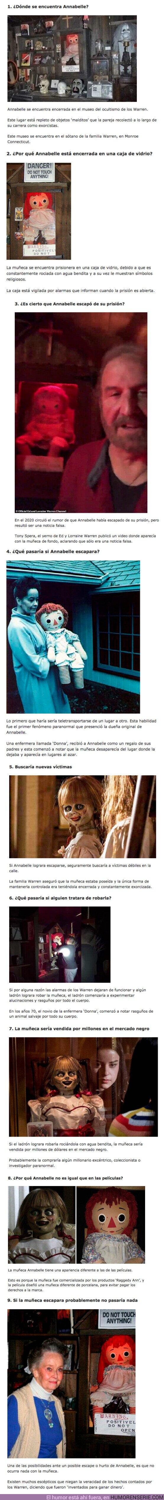 72644 - GALERÍA: 9 Cosas que pasarían si la muñeca 'Annabelle' escapara de su prisión de vidrio