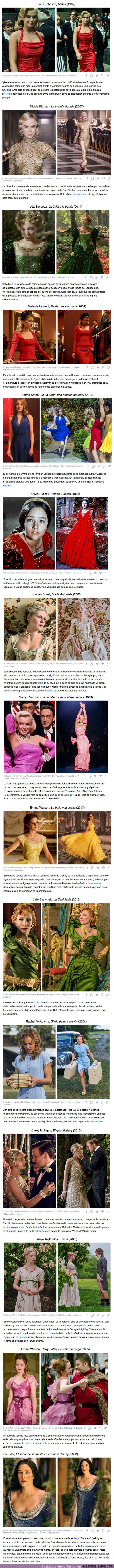 73000 - GALERÍA: 15 Espléndidos vestidos de película que casi eclipsan a las propias actrices