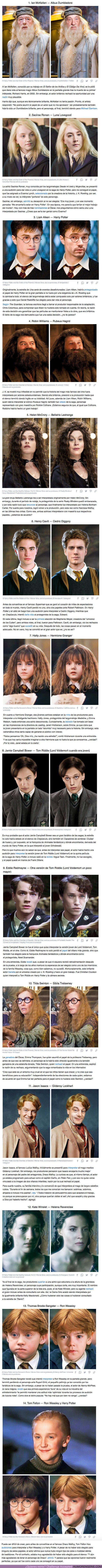 """73312 - GALERÍA: 14+ Actores que por poco interpretan a personajes clave en """"Harry Potter"""""""