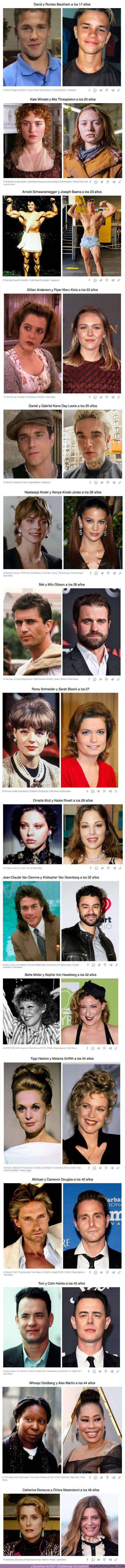 74365 - GALERÍA: 16+ Fotos de famosos y sus hijos a la misma edad con las que no haría falta una prueba de ADN