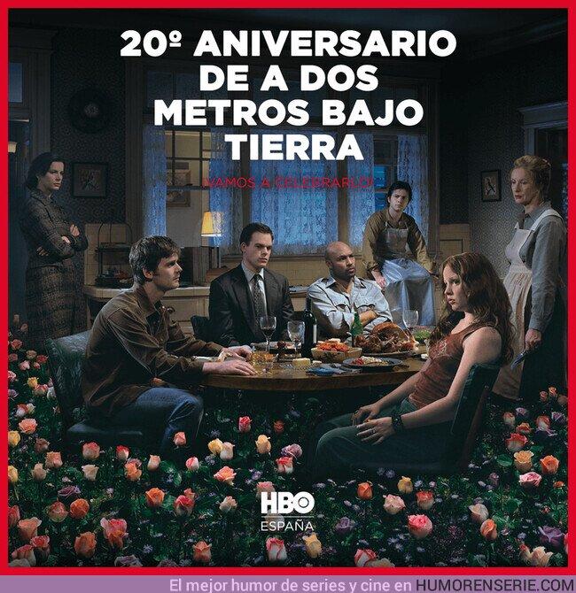 75090 - Hace 20 años, el 3 de junio de 2001, se estrenó la serie 'A dos metros bajo tierra' en HBO. Y abordó  uno de los mayores miedos de la humanidad: la muerte
