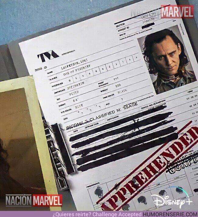 75200 - En el nuevo teaser de #Loki se muestra un expediente donde podemos ver que Loki es Genero Fluido.Eso significa que no se identifica con una sola identidad de género y que circula entre varias