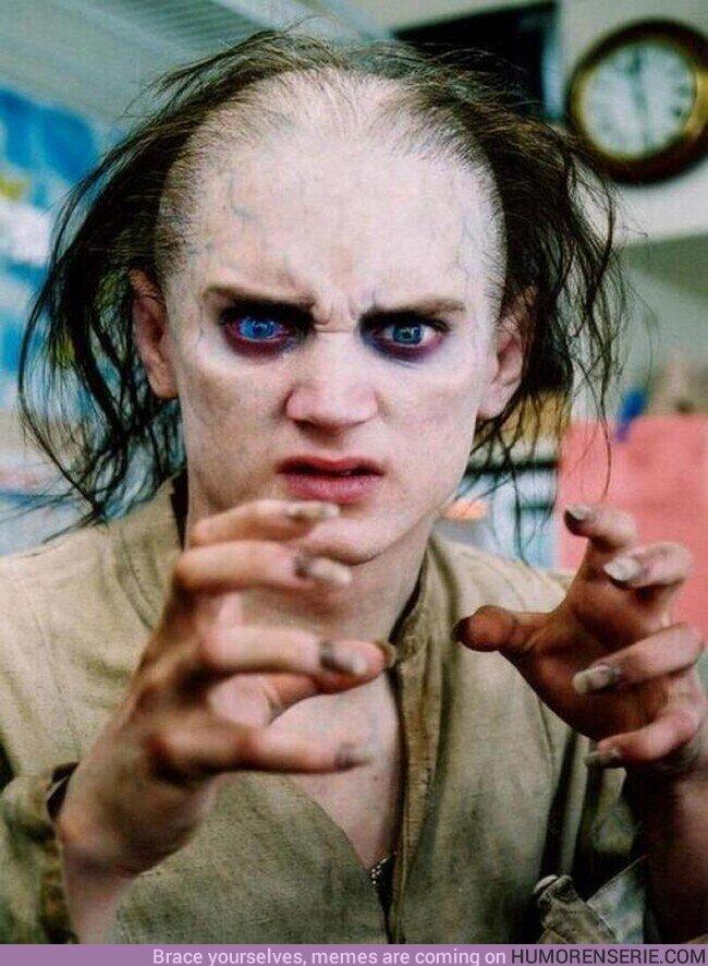 75517 - Elijah Wood maquillado como Gollum durante el rodaje de