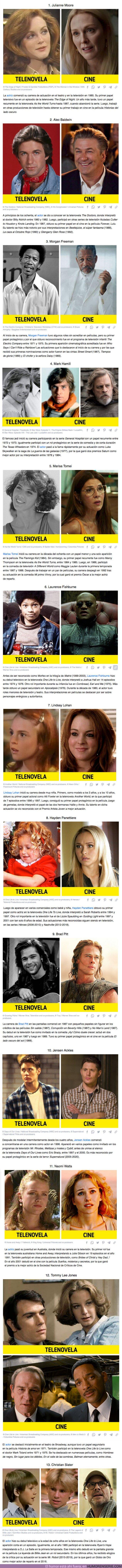 75609 - GALERÍA: 13 Famosos que empezaron sus carreras en telenovelas y ahora brillan en Hollywood