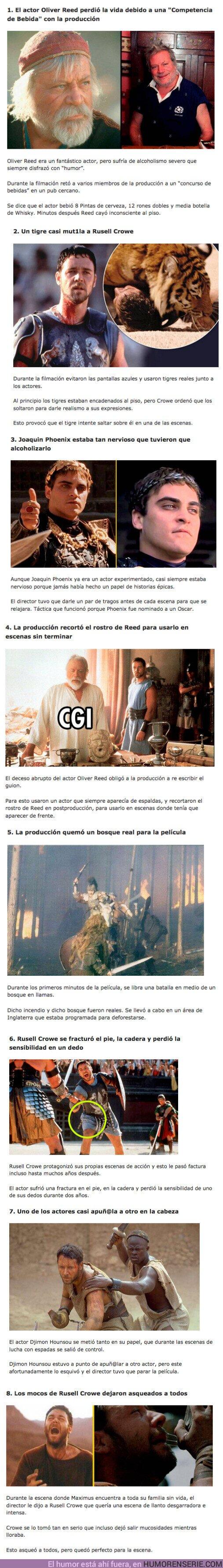 75777 - GALERÍA: 8 cosas loquísimas que sucedieron durante el rodaje de Gladiator