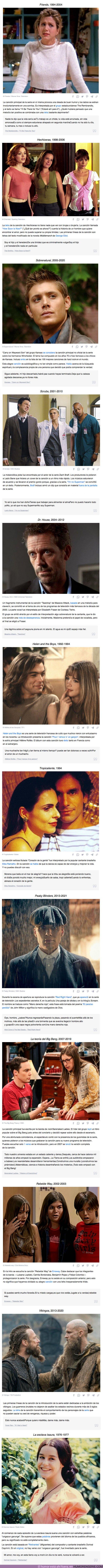 75857 - GALERÍA: 12 veces en las que no prestamos atención a la letra de las canciones de series de televisión de culto