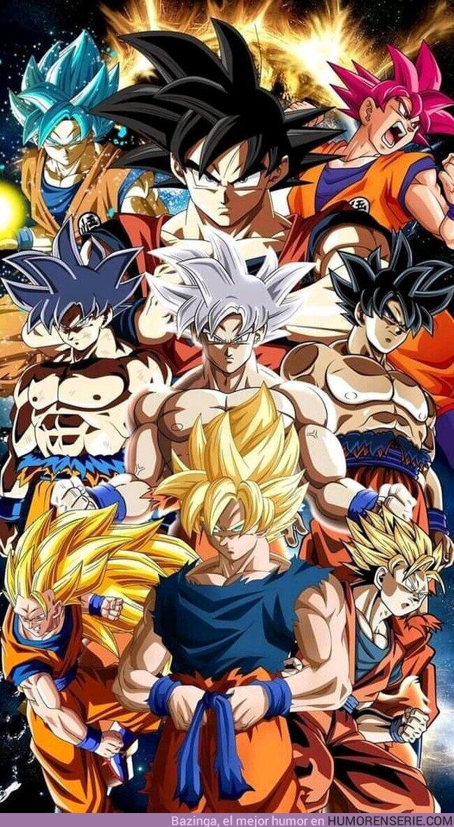 76033 - Se van a quedar sin colores de pelo para las siguientes transformaciones de Goku como sigan así