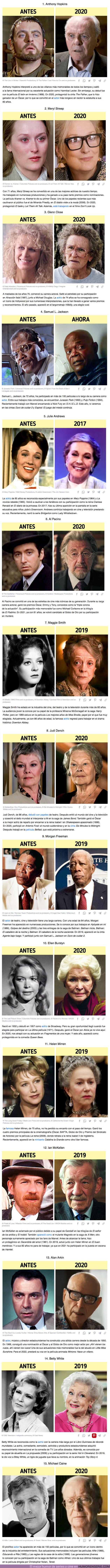 76305 - GALERÍA: 15 actores de más de 70 años que nos siguen maravillando con sus papeles