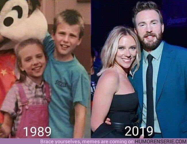 76359 - TODOS necesitamos una amistad como la de Scarlett Johansson y Chris Evans
