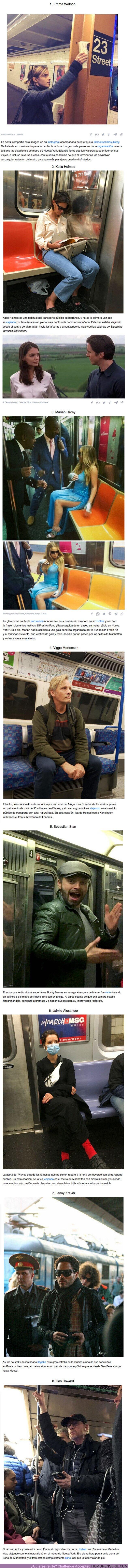 76381 - GALERÍA: 8 estrellas de Hollywood que usan el metro como si fueran cualquiera de nosotros