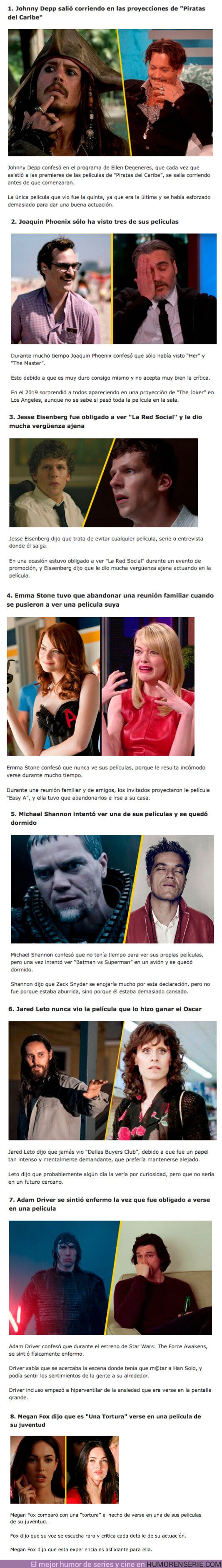 76452 - GALERÍA: 8 Actores que se negaron a ver sus películas más famosas por motivos random