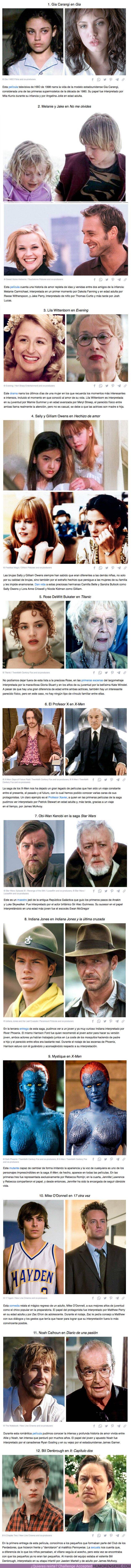 76463 - GALERÍA: 12 Pares de actores que interpretaron al mismo personaje en distintas edades