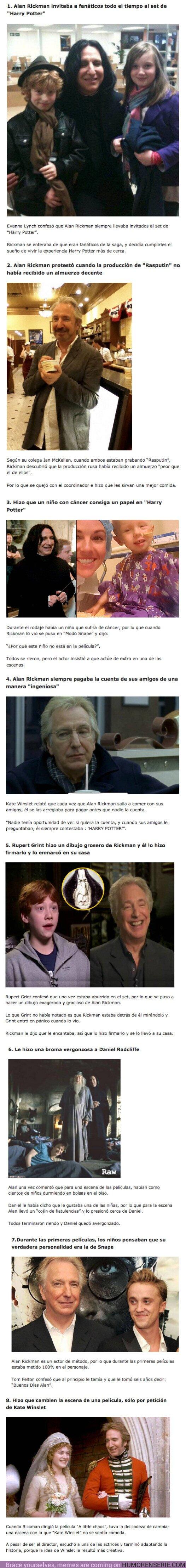 76931 - GALERÍA: 8 ejemplos que demuestran que Alan Rickman es el actor más tierno de Hollywood