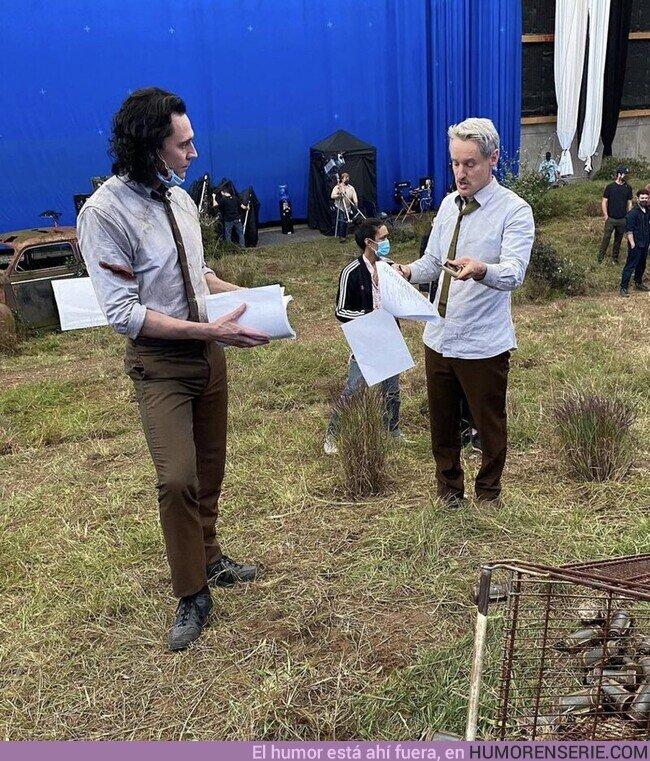 77002 - Tom Hiddleston y Owen Wilson detrás de las cámaras de Loki