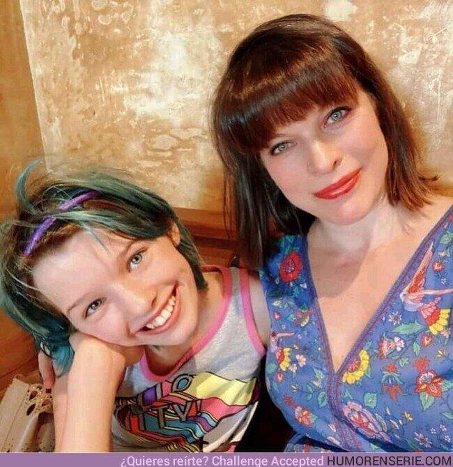 77349 - La actriz que hace de Natasha cuando es una niña en Black Widow es la hija de Mila Jovovic