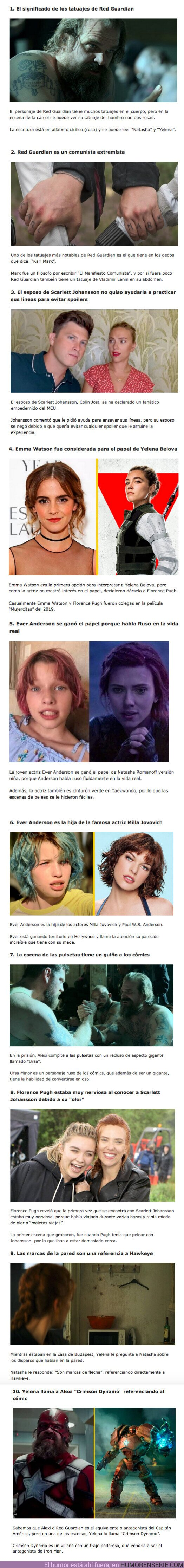 """77957 - GALERÍA: 10 secretos ocultos que no viste en """"Black Widow"""""""
