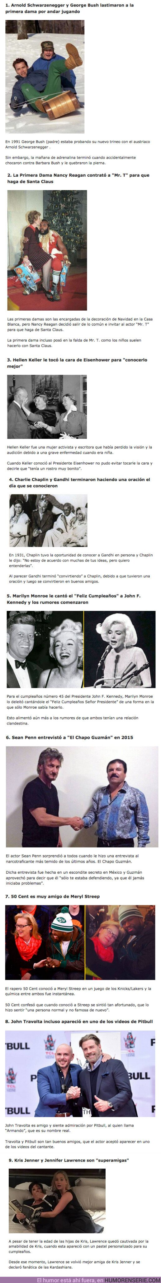 78567 - GALERÍA: Las 9 Amistades más RANDOM que han sucedido entre famosos