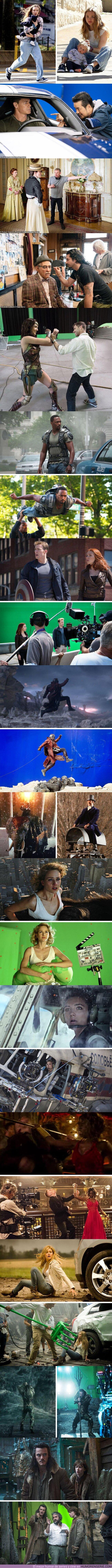 80125 - GALERÍA: 15 Fotos que revelan lo que pasa en el set de rodaje de algunas de las mejores pelis