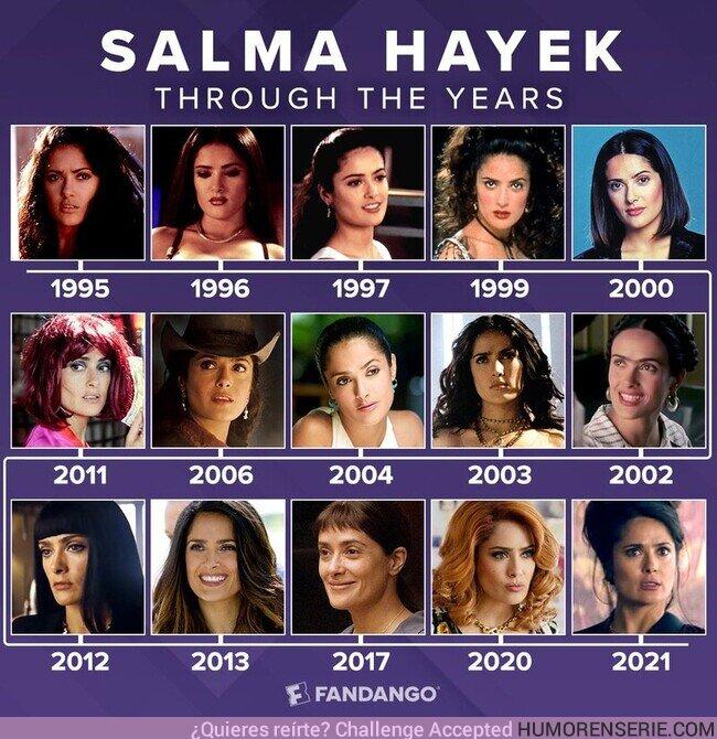 80231 - Salma Hayek a lo largo de los años. Por Fandango