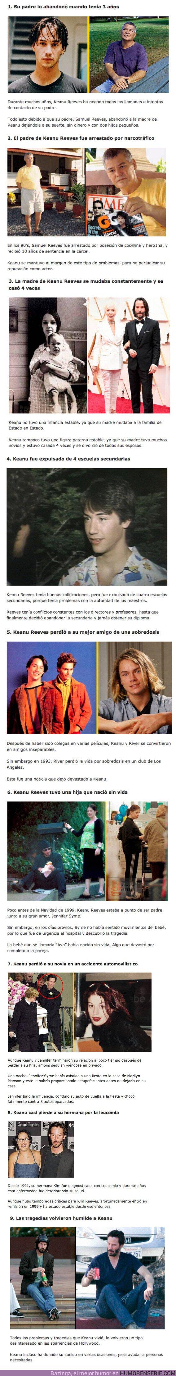80376 - GALERÍA: 9 Historias trágicas que ha tenido que sufrir Keanu Reeves