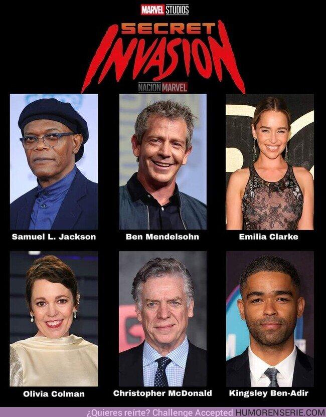 80466 - La serie #SecretInvasion ya ha comenzado su filmación en Londres.El cast incluye a Samuel L. Jackson como Nick Fury y Ben Mendelsohn como el Skrull Talos, y más actores que harán su debut en el UCM