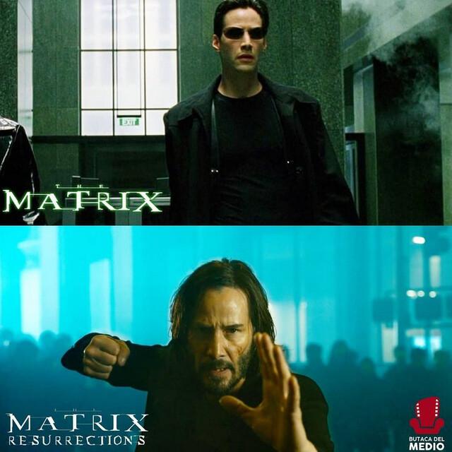80516 - Primera imagen de Keanu Reeves como Neo en Matrix Resurrections.