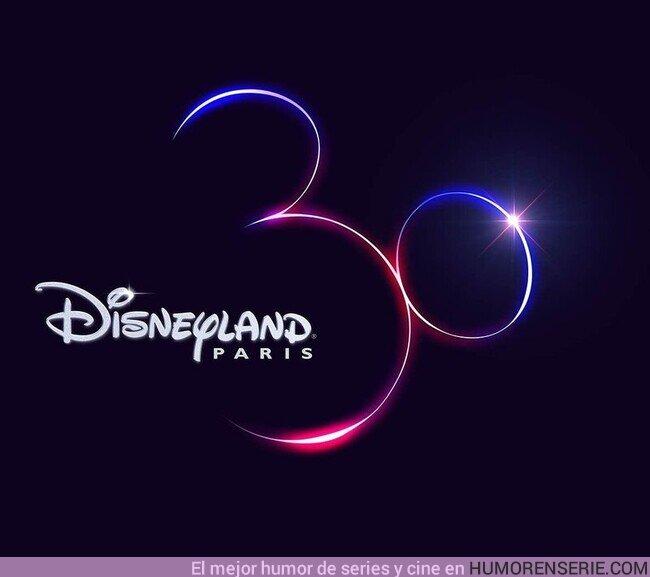 80617 - La genialidad de Disneyland París en su logo del 30 aniversario. Puedes ver a Mickey o el 30.¿Qué viste primero?
