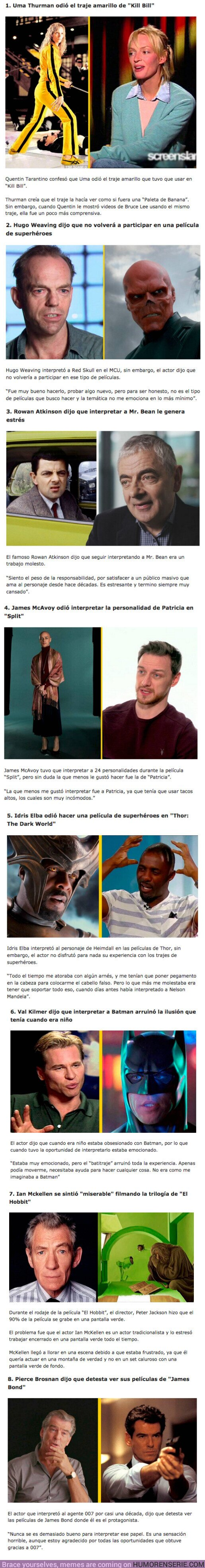 80787 - GALERÍA: 8 Actores confiesan lo que más ODIARON de sus personajes más icónicos