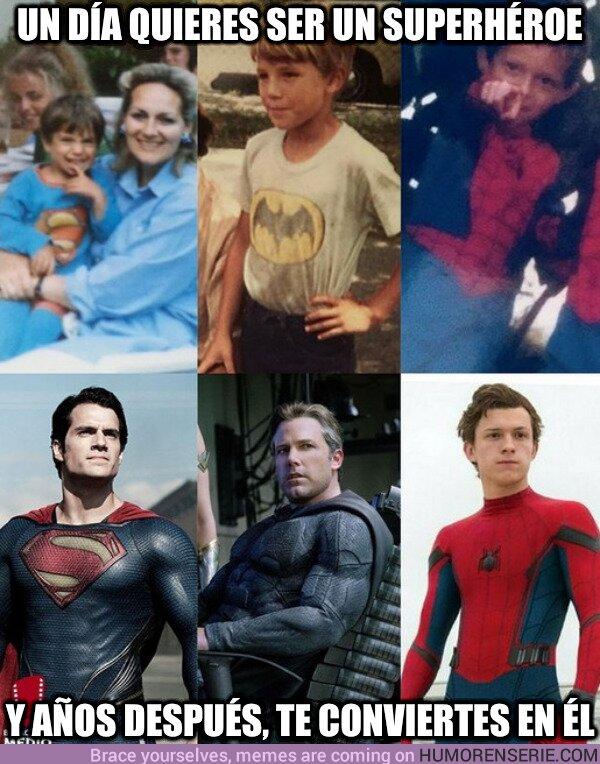 80854 - Unos jovencitos Henry Cavill, Ben Affleck y Tom Holland vistiendo los colores de los superhéroes que interpretarían en la gran pantalla ya de adultos. ¡Los sueños se cumplen!