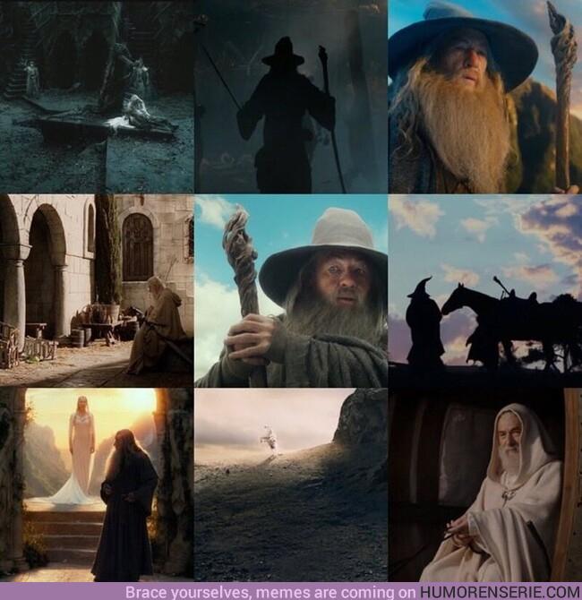 81069 - «Mithrandir entre los elfos, Tharkún para los enanos; Olórin era en mi juventud en el Oeste que nadie recuerda, Incánus en el Sur, Gandalf en el Norte; al Este nunca voy»