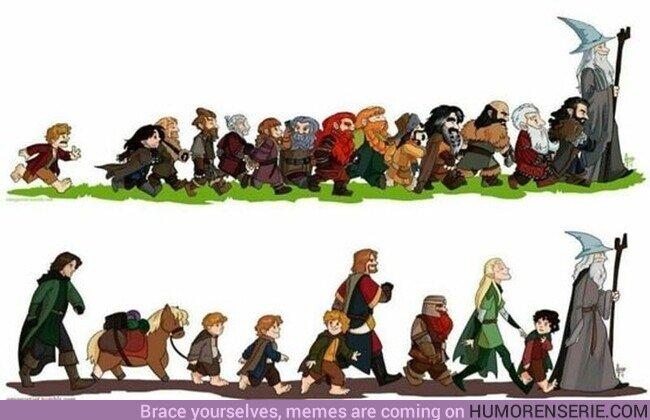 """81631 - Bilbo: """"Es peligroso, Frodo, cruzar tu puerta. Pones tu pie en el camino, y si no cuidas tus pasos, nunca sabes a dónde te pueden llevar."""