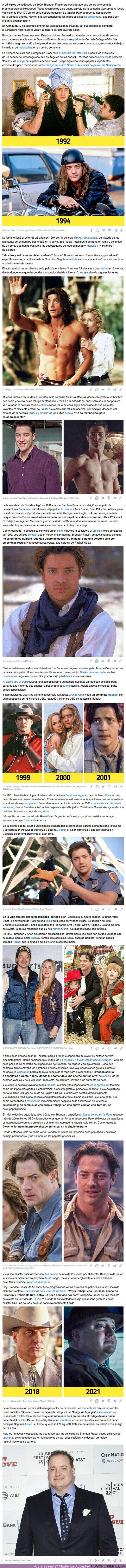 81895 - La historia de gran Brendan Fraser, un actor que ha tenido un destino difícil, pero que tiene el cariño de todos
