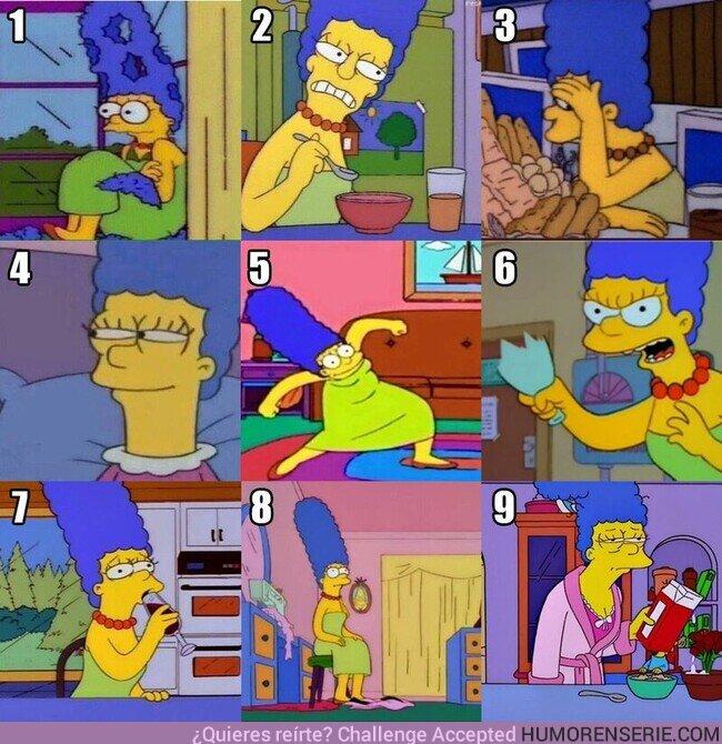 82128 - ¿Qué Marge Simpson eres hoy? Yo, hoy, la 9, por @FerAlcala_S