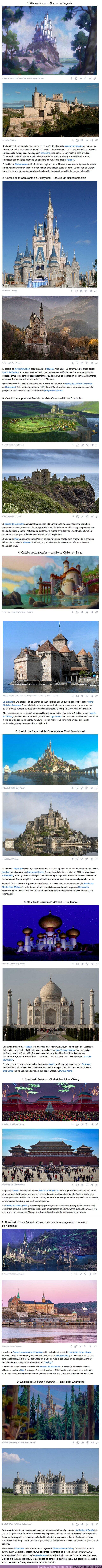 82645 - GALERÍA: 9 Castillos reales que Disney habría utilizado como inspiración para crear los palacios de sus princesas