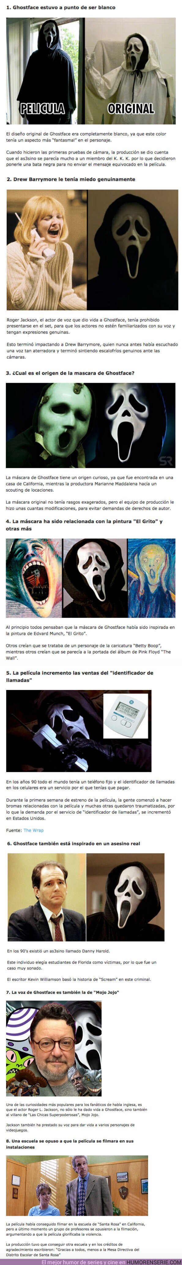 """82816 - GALERÍA: 8 Curiosidades de """"Ghostface"""" el terrible personaje de """"Scream"""""""