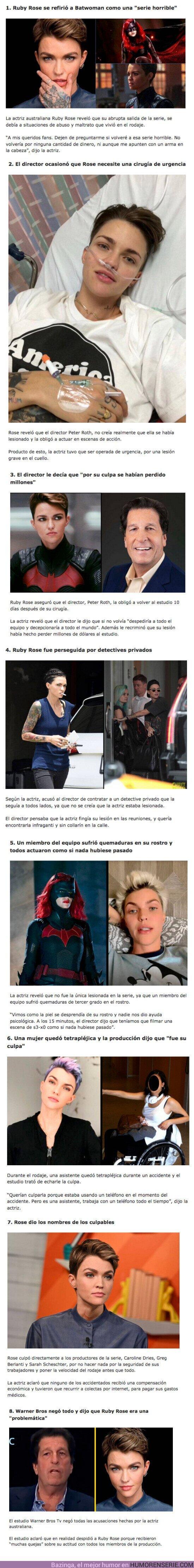 """83333 - GALERÍA: Ruby Rose reveló los 10 maltratos que sufrió en el set de """"Batwoman"""""""